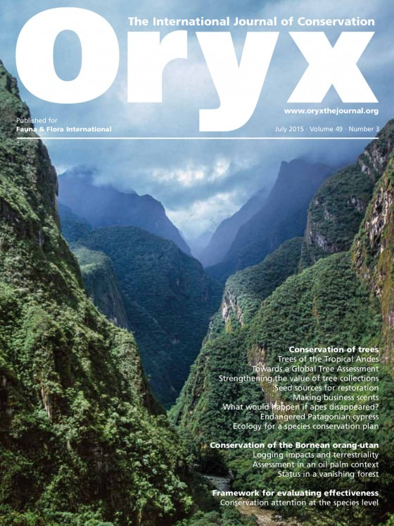 The July Issue of Oryx includes eight articles that examine diverse approaches to tree conservation. Credit: Luiz Claudio Marigo/Naturepl.com