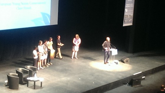 Julie recieving her award at ICCB-ECCB 2015 in Montpellier, France.